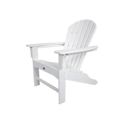 Yacht Club Shellback Classic White Plastic Patio Adirondack Chair