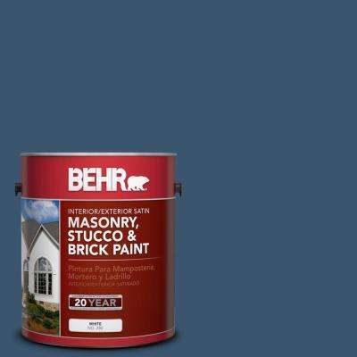 1 gal. #BXC-24 Atlantic Tide Satin Interior/Exterior Masonry, Stucco and Brick Paint