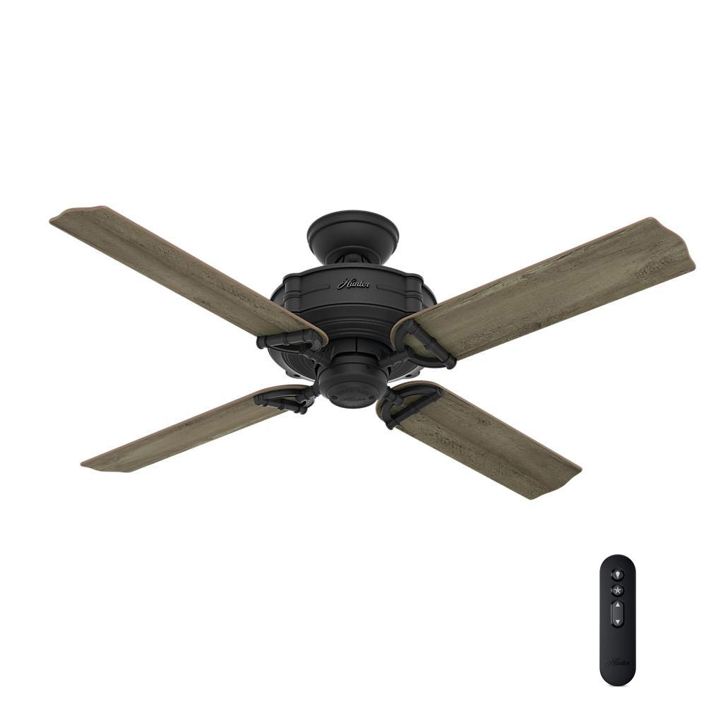 hunter ceiling fan remote brunswick 52 in indoor outdoor iron 29341