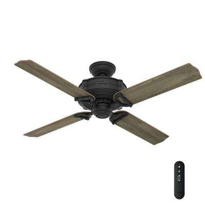 22 ceiling fans lighting the home depot indooroutdoor natural iron ceiling fan with integrated handheld remote control aloadofball Image collections