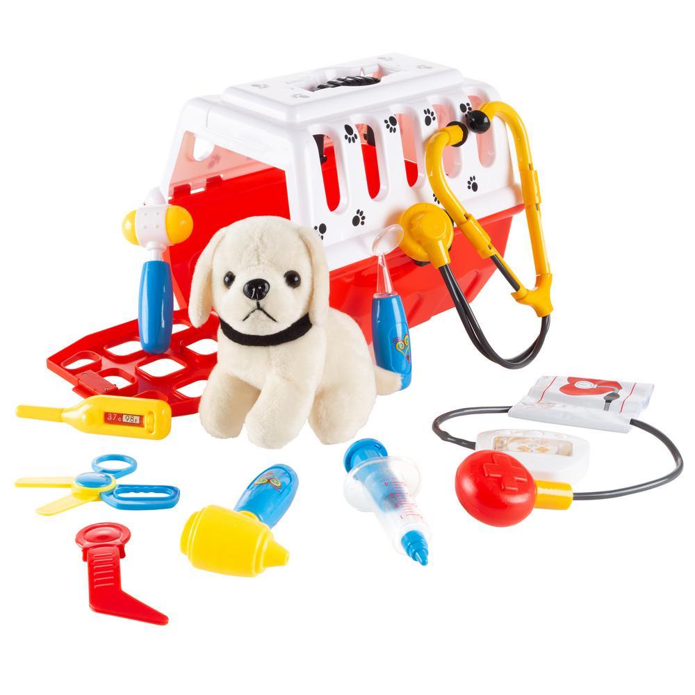11-Piece Kids Veterinary Pretend Play Set