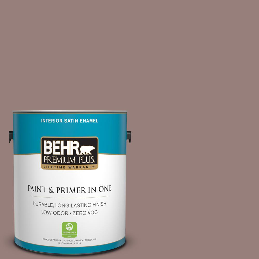 1 gal. #N130-5 Mystere Satin Enamel Zero VOC Interior Paint and