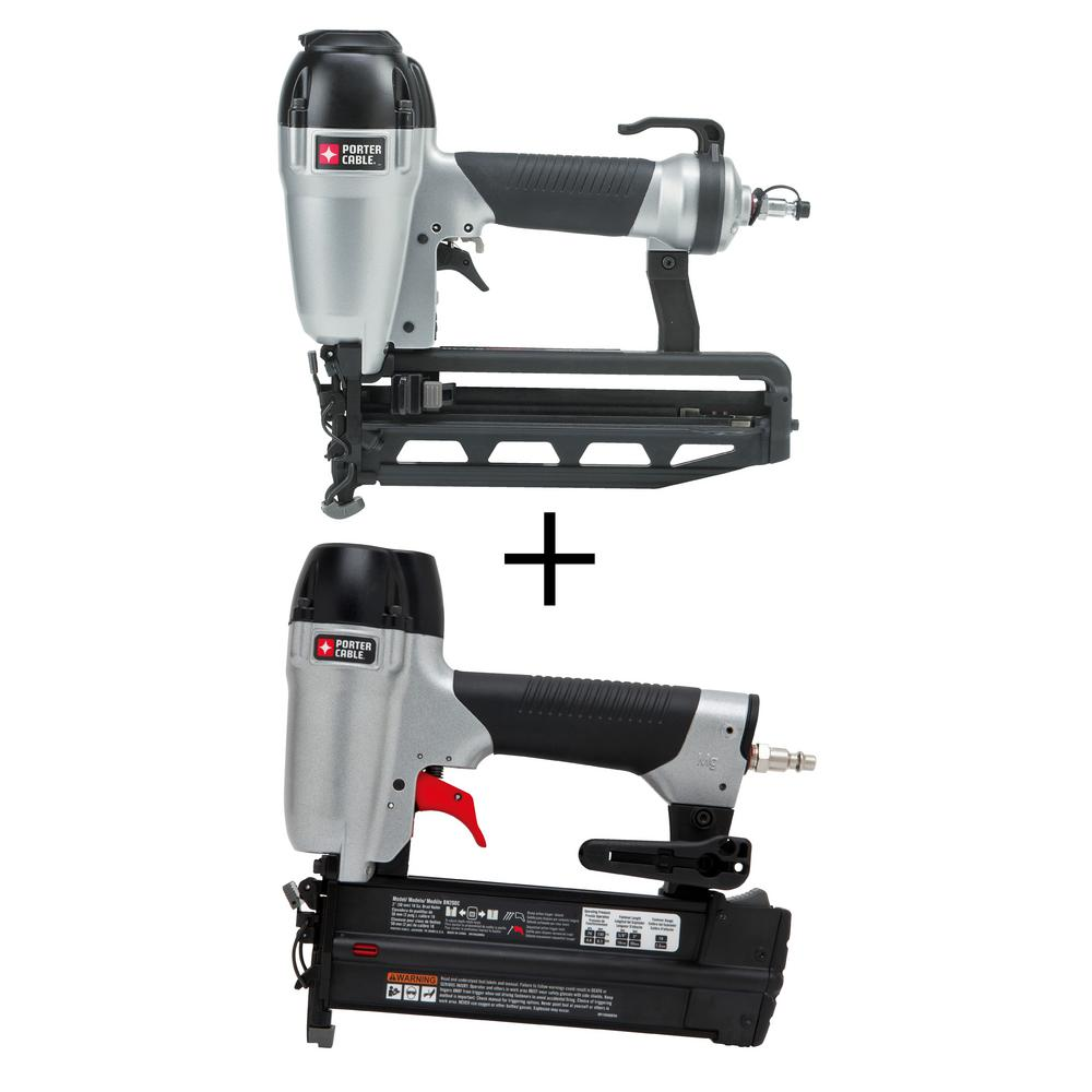 Pneumatic 16-Gauge 2-1/2 in. Nailer Kit with Bonus 18-Gauge Brad Nailer
