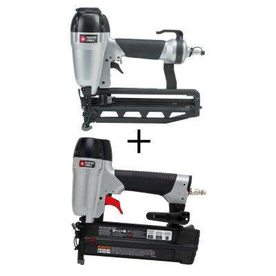 Pneumatic 16-Gauge 2-1/2 in. Nailer Kit with Bonus 18-Gauge Brad Nailer Kit