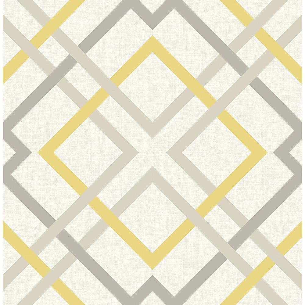 A-Street Saltire Yellow Lattice Wallpaper 2697-22652