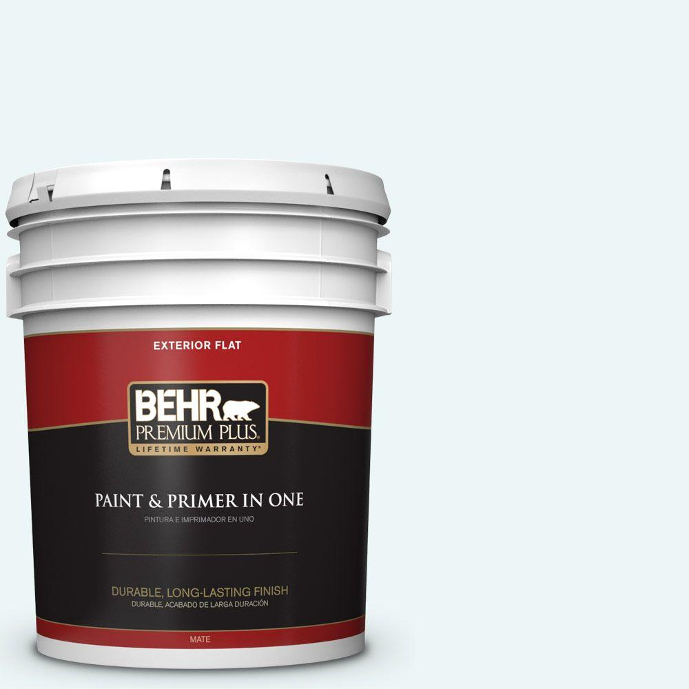 5-gal. #PPL-15 Icy Wind Flat Exterior Paint