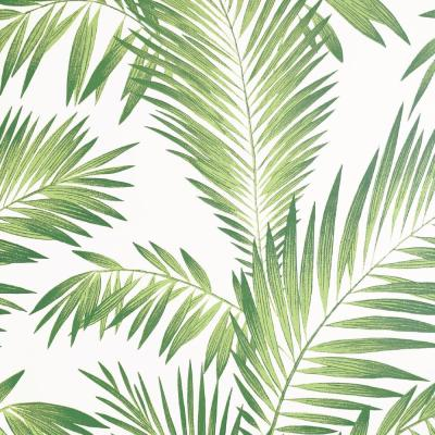 Tropical Palm Green Peel and Stick Non-Woven Wallpaper