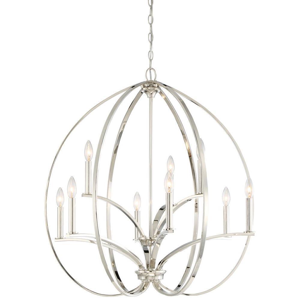 Minka lavery tilbury 9 light polished nickel chandelier 4989 613 minka lavery tilbury 9 light polished nickel chandelier mozeypictures Images