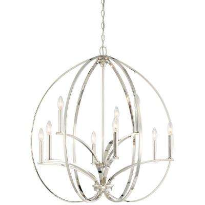 Tilbury 9 Light Polished Nickel Chandelier