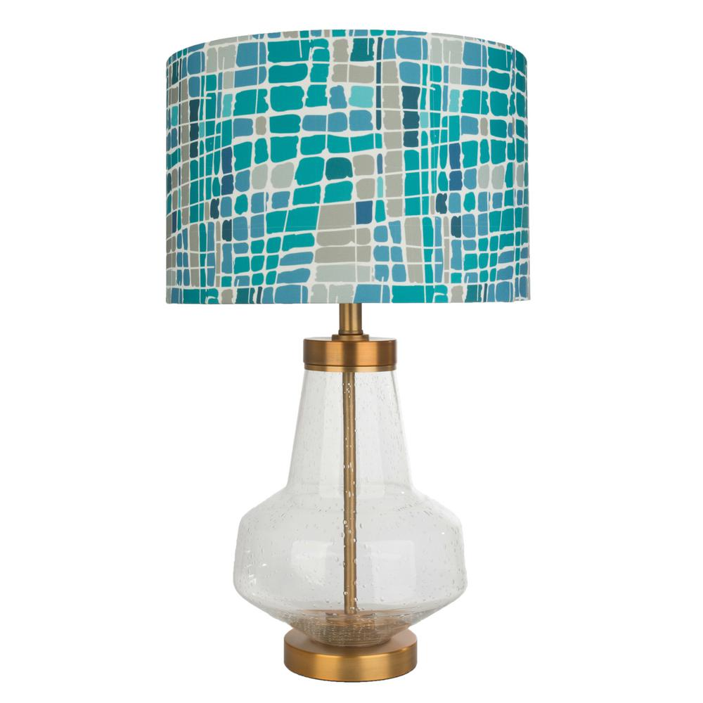 River Of Goods Kris Ruff 24 In Blue Table Lamp With Glass Base