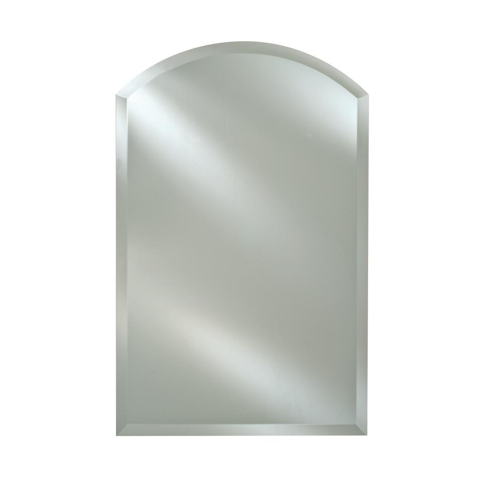 Afina Radiance 20 in. W x 30 in. H Frameless Arched ...