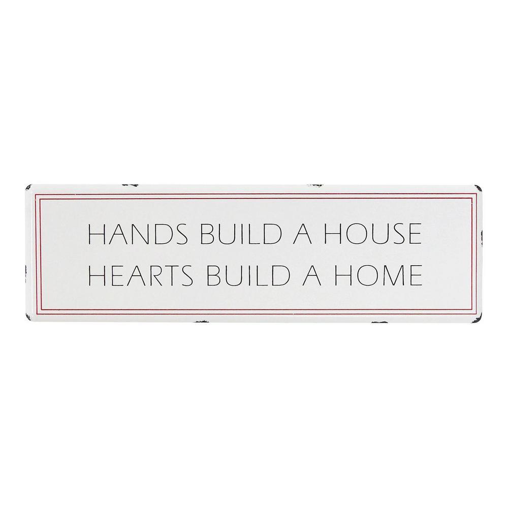Hearts Build a Home Metal Wall Art