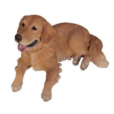 Golden Retriever Lying Down Statue