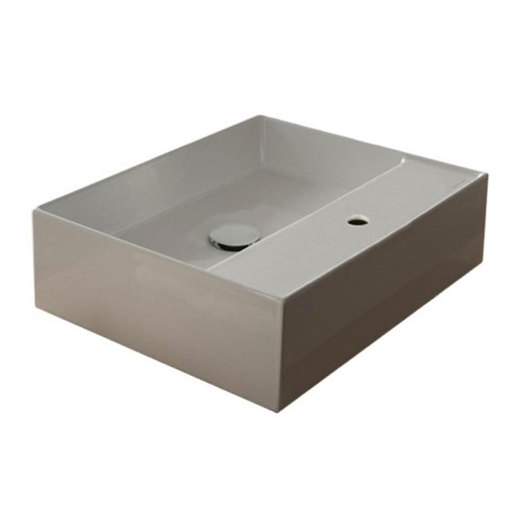 Teorema Vessel Bathroom Sink in White