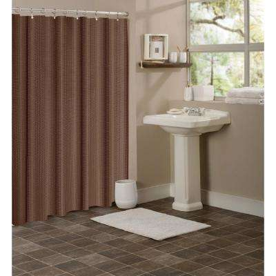 Hotel Collection Waffle 72 in. Chocolate Brown Shower Curtain