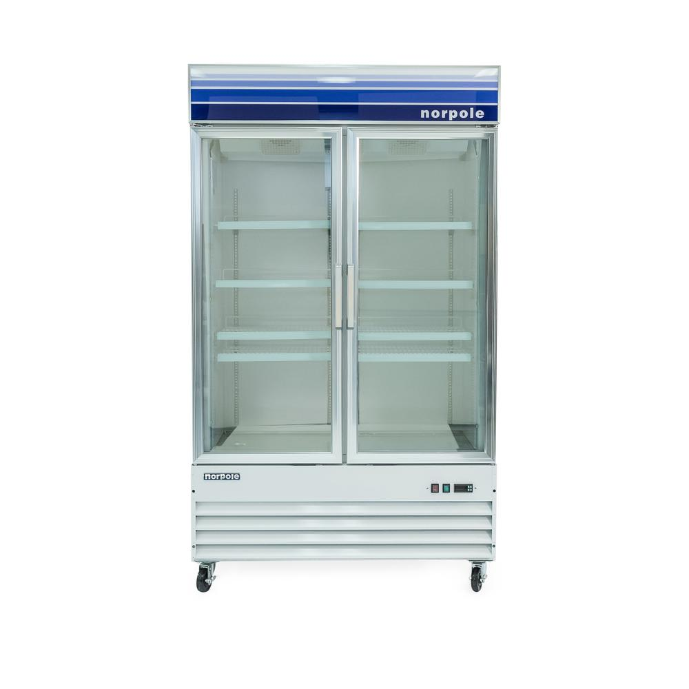Norpole Commercial 29 Cu Ft Glass Door Merchandiser Refrigerator