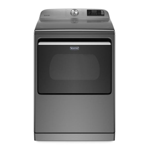 7.4 cu. ft. 240-Volt Smart Capable Metallic Slate Electric Vented Dryer with Hamper Door and Steam, ENERGY STAR