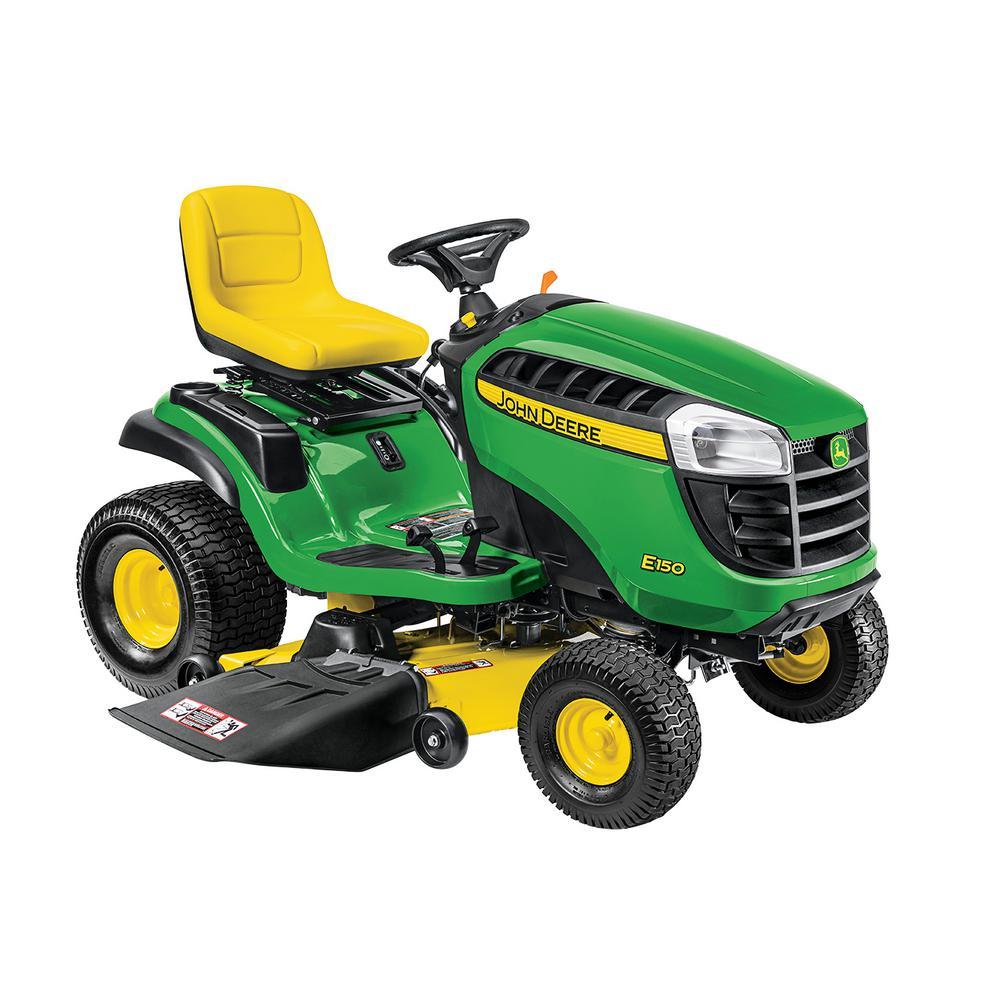 John Deere E150 48 inch 22 HP V-Twin Gas Hydrostatic Lawn Tractor -California Compliant by John Deere