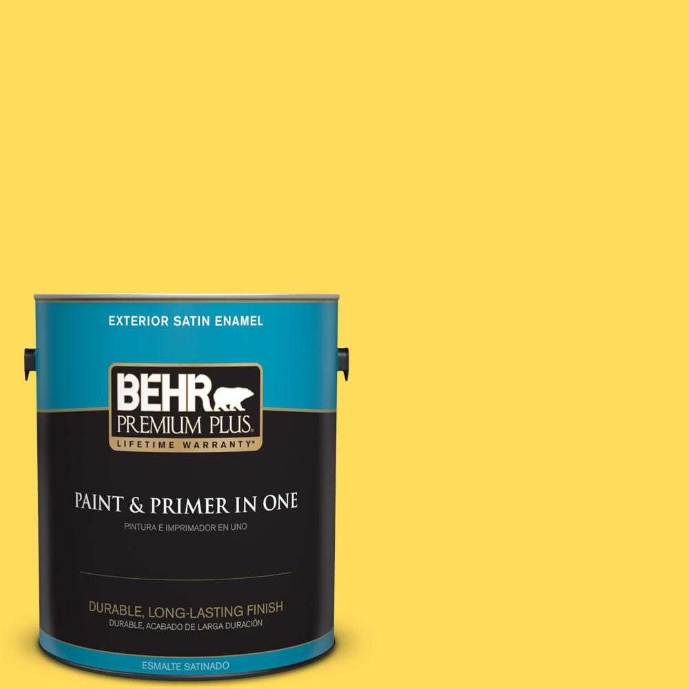 1-gal. #380B-5 Neon Light Satin Enamel Exterior Paint