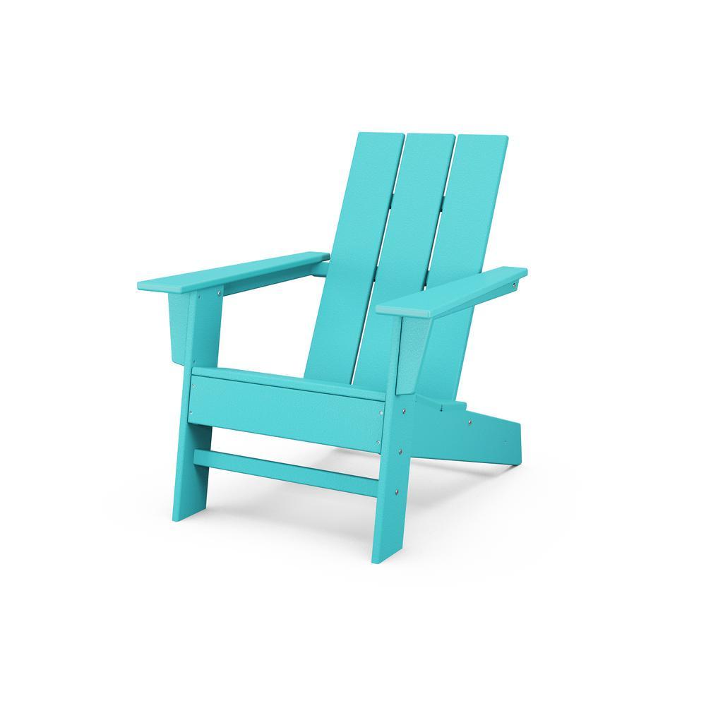Grant Park Aruba Modern Plastic Outdoor Patio Adirondack Chair