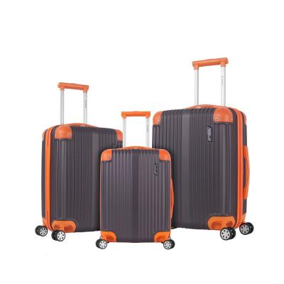 Berlin 3-Piece Charcoal Hardside Non-Expandable Luggage Set