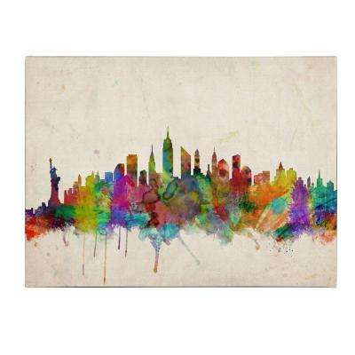 30 in. x 47 in. New York Skyline Canvas Art