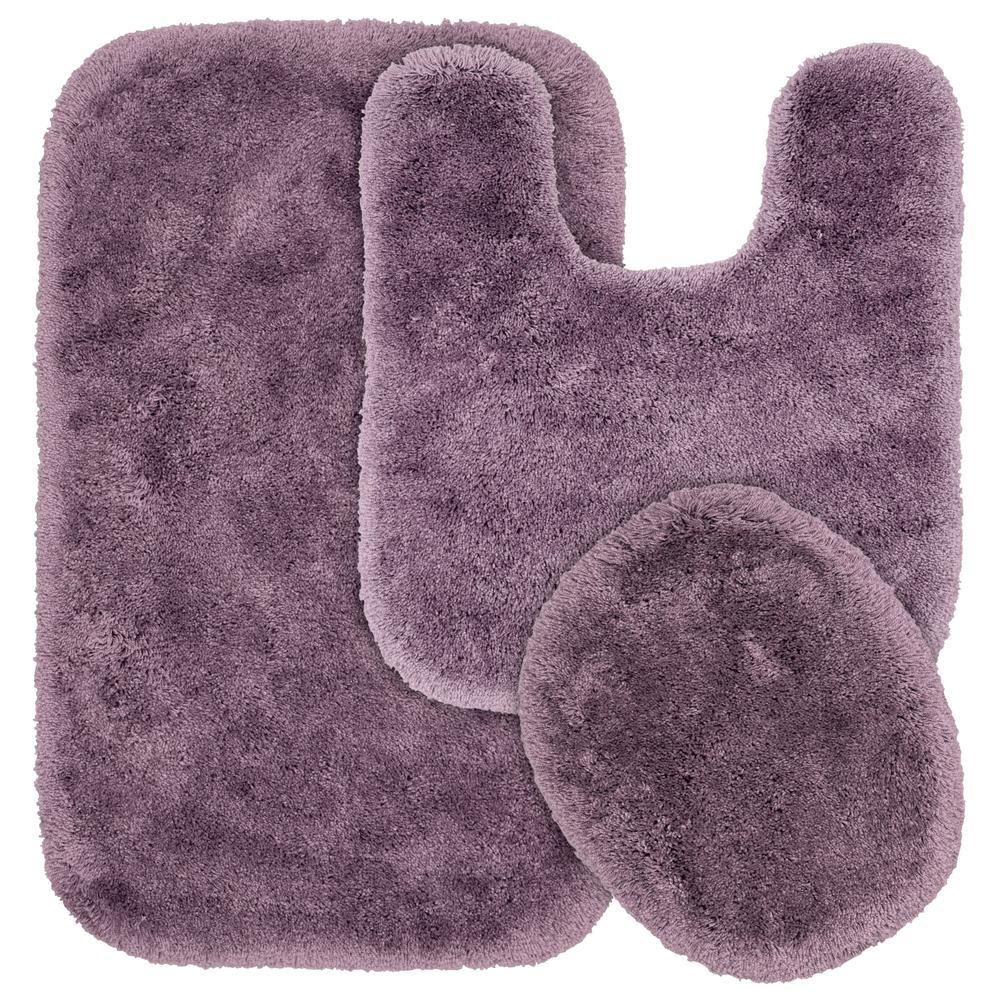 Purple Bath Rug Sets: Garland Rug Glamor Purple 21 In. X 34 In. Washable