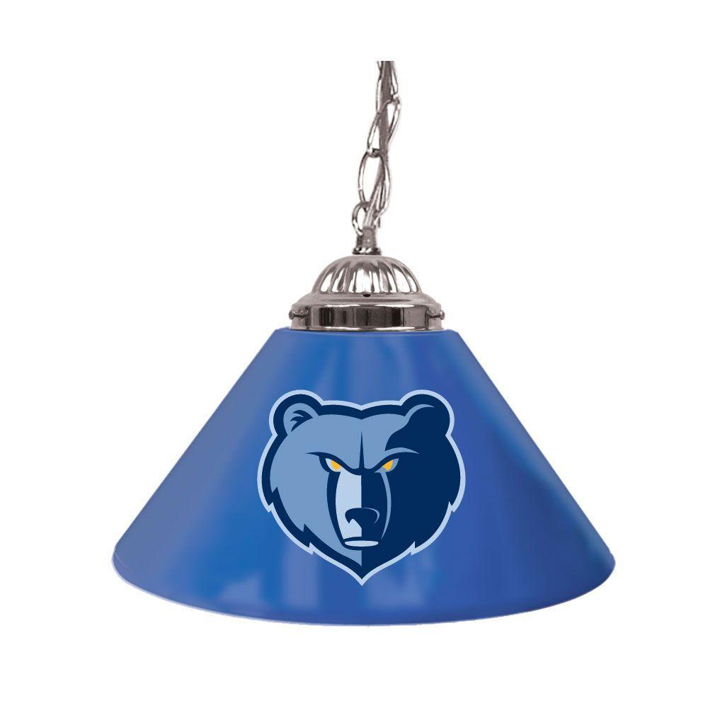 Trademark Memphis Grizzlies NBA 14 in. Single Shade Stainless Steel Hanging Lamp