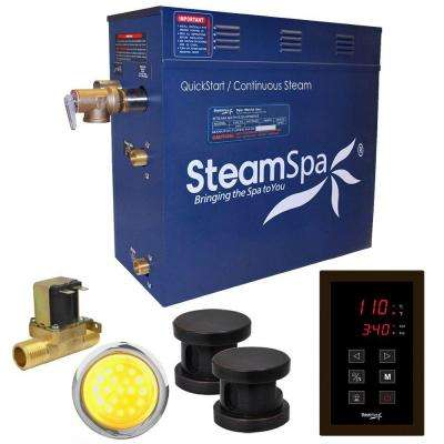Indulgence 10.5kW QuickStart Steam Bath Generator Package with Built-In Auto Drain in Polished Oil Rubbed Bronze