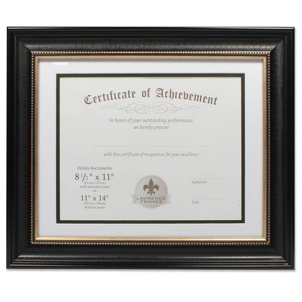 Lawrence Frames 11 In X 14 In Dual Use Black Beaded Document Frame