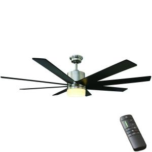 Home Decorators Collection Kingsbrook 60 In Led Indoor Brushed Nickel Ceiling Fan With Light