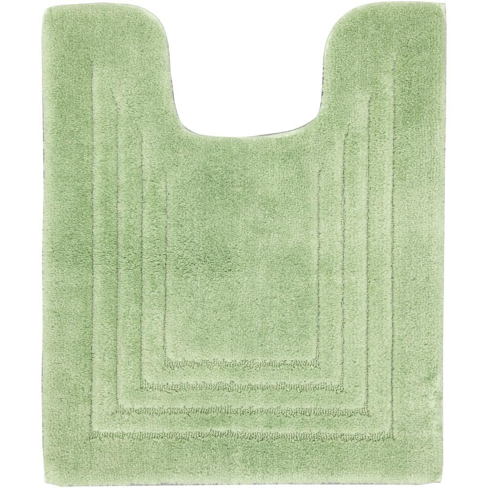 Mohawk Green Shadow 20 in. x 24 in. Contour Bath Mat-DISCONTINUED