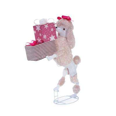 christmas cool white led poodle with presents