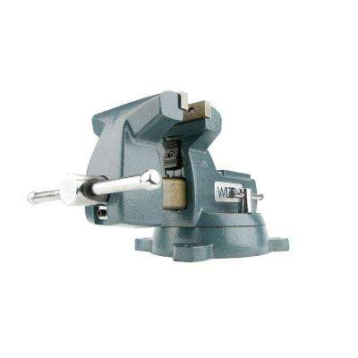 5 in. Mechanics Vise with Swivel Base, 3-3/4 in. Throat Depth