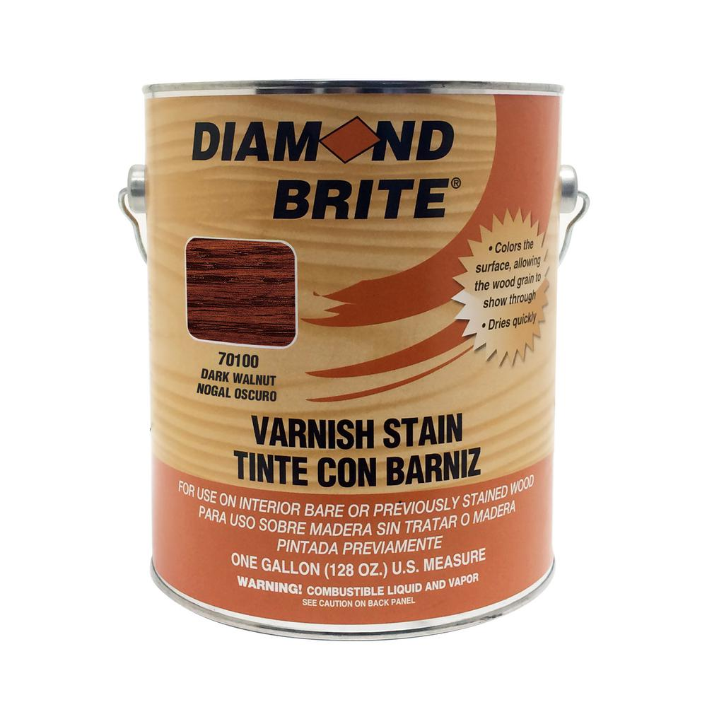Diamond Brite Paint 1 gal. Dark Walnut Oil-Based Interior Varnish Stain