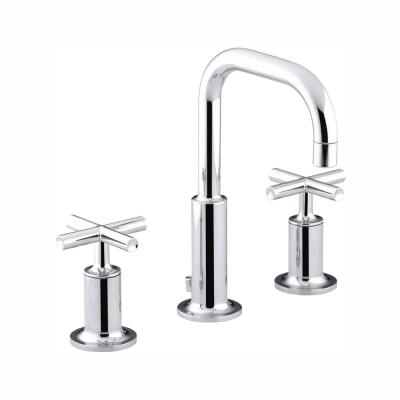 Purist 8 in. Widespread 2-Handle Bathroom Faucet in Polished Chrome