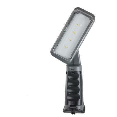 2W 10 in. Dark Grey Plastic Rechargeable Integrated LED Swiveling-Head Work Light