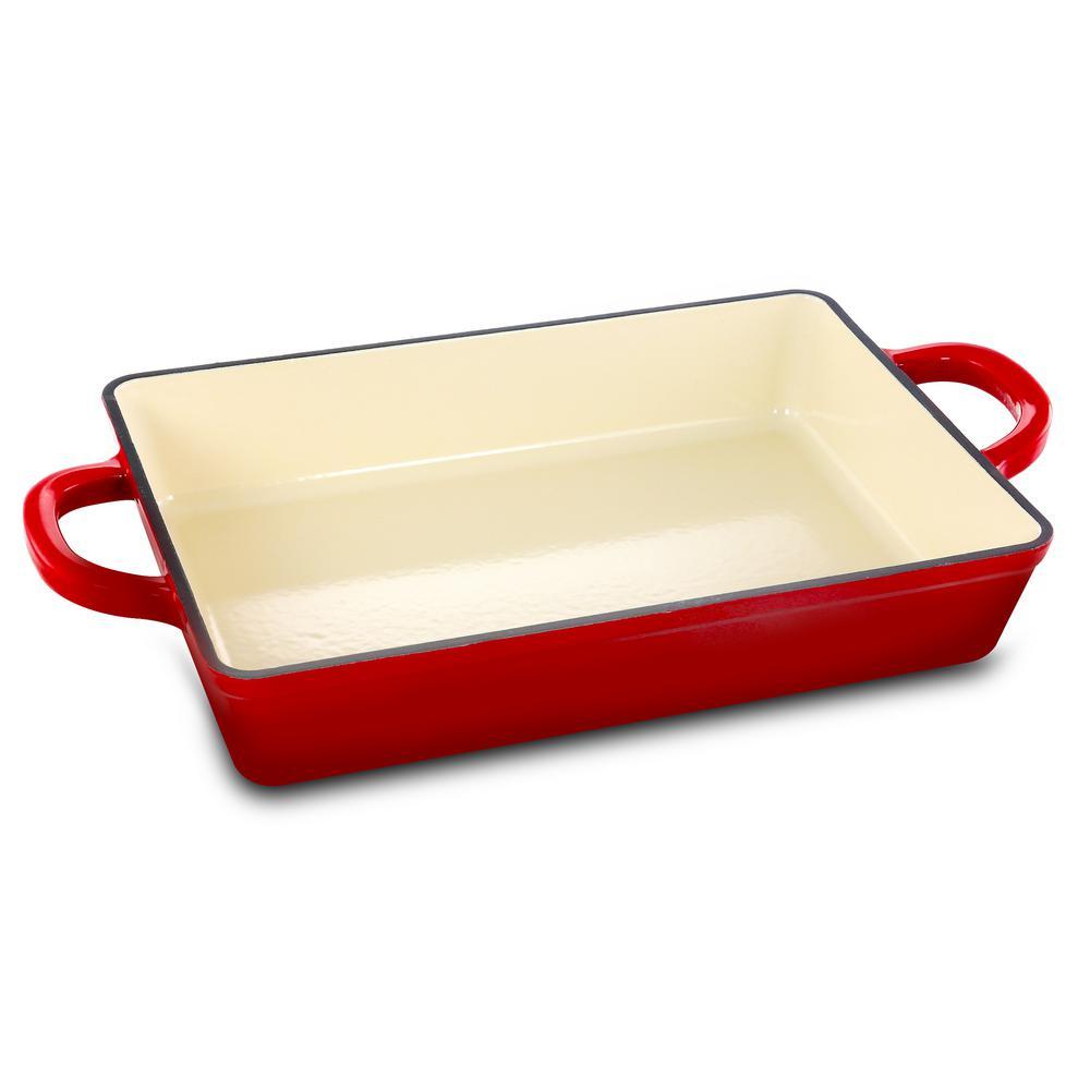 Artisan 13 in. Rectangle Enameled Cast Iron Casserole Dish