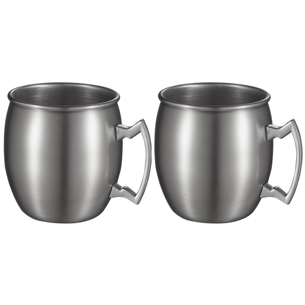 Kremlin 2-Piece Brushed Nickel Moscow Mule Mug Set