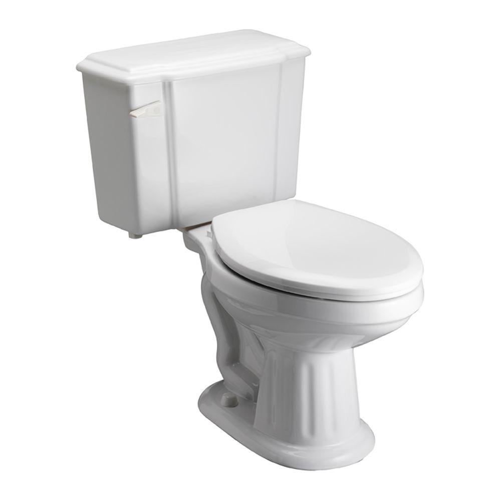 Pegasus Vicki 2-piece 1.6 GPF Elongated Toilet in White