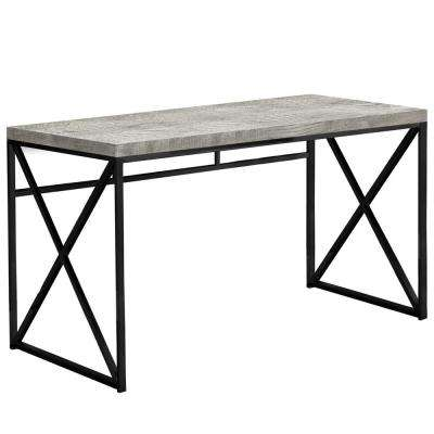 Jasmine 1-Piece Grey and Black Computer Desk
