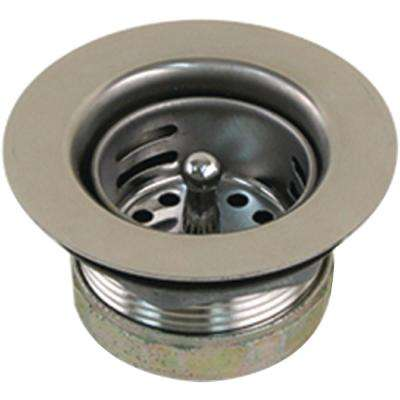 Sink Drain with Basket Stopper, Stainless Steel