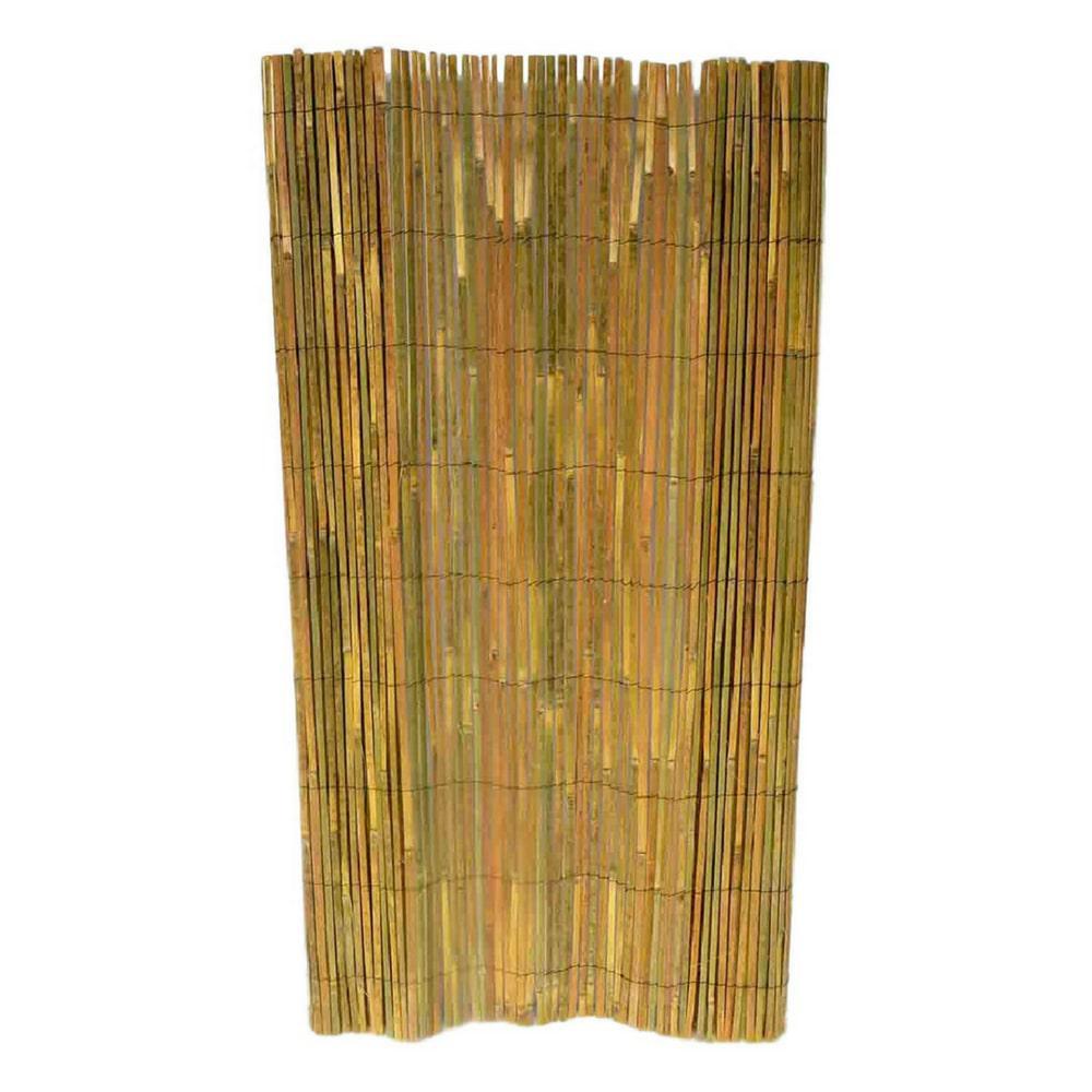 48 in. H Bamboo Slate Garden Fence
