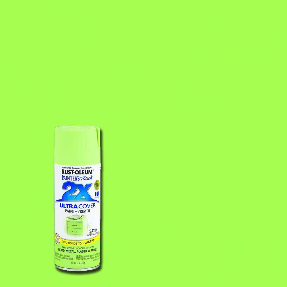 12 oz. Satin Green Apple General Purpose Spray Paint