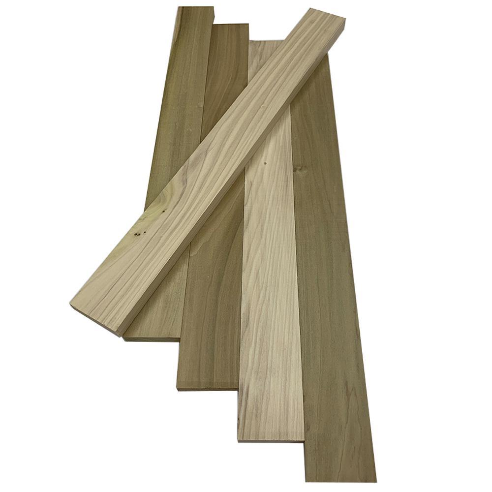 1 in. x 3 in. x 2 ft. Poplar S4S Board (5-Pack)