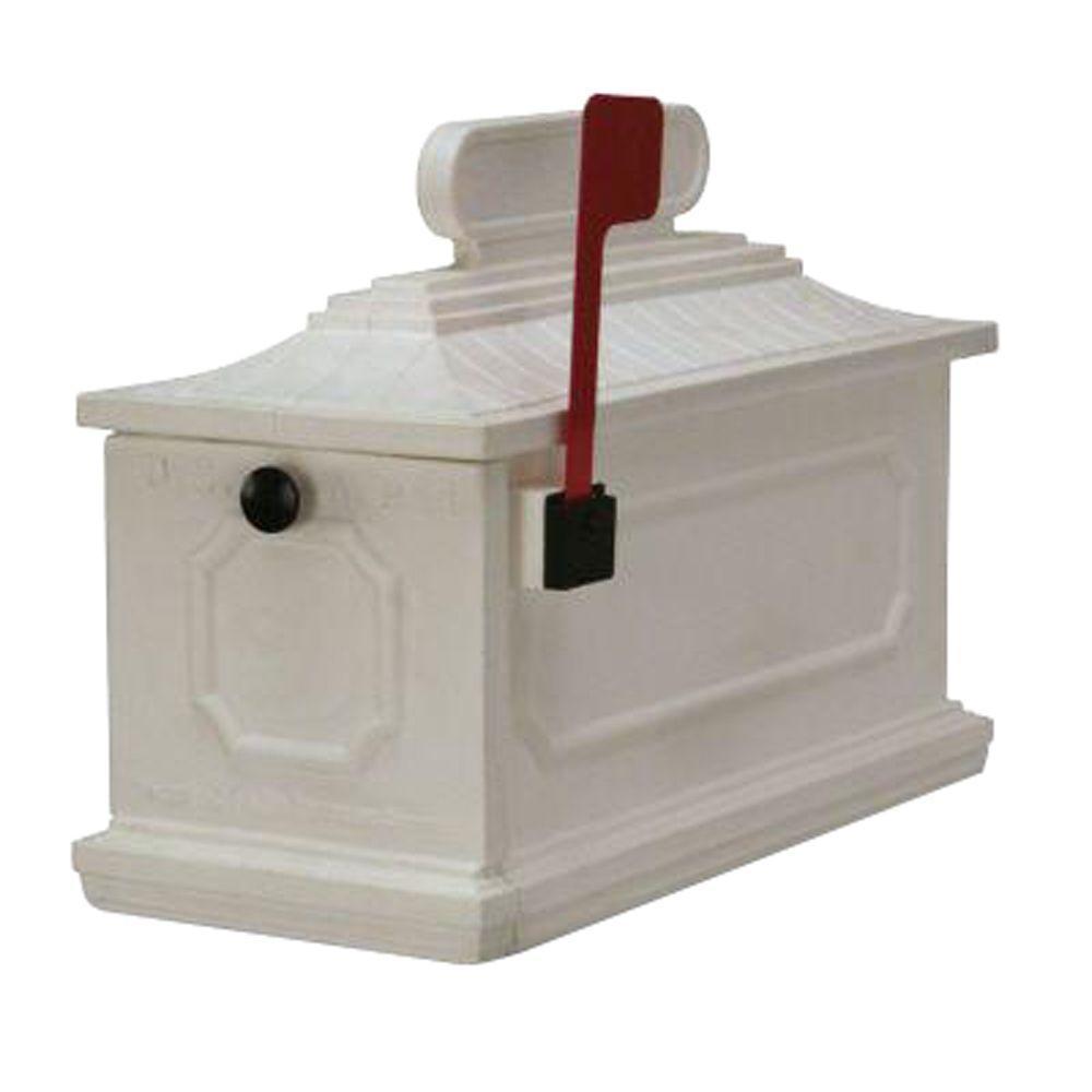 1812 Architectural Mailbox in White