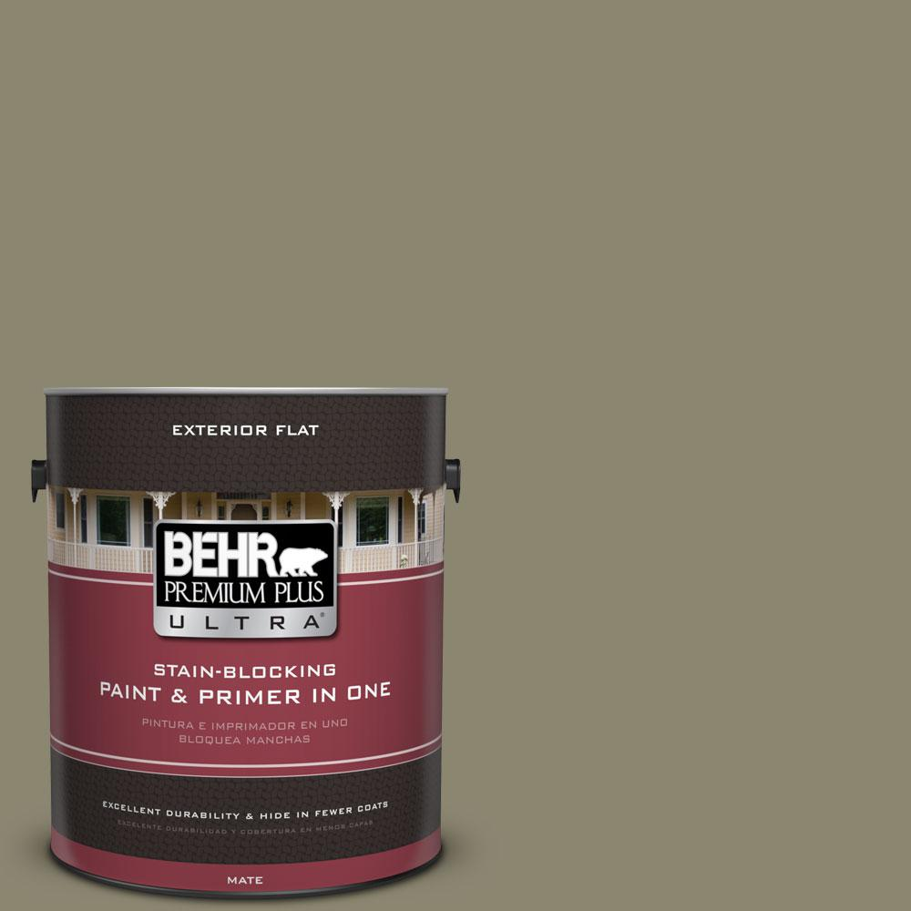 1-Gal. No.PPU8-21 Mossy Bank Flat Exterior Paint
