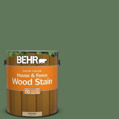 1 gal. #SC-126 Woodland Green Solid Color House and Fence Exterior Wood Stain