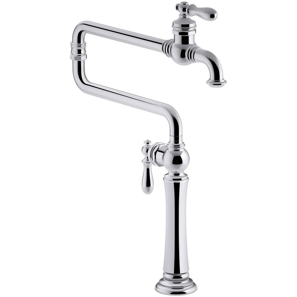 Artifacts 2-Handle Deck Mounted Potfiller in Polished Chrome