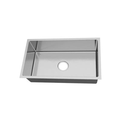Undermount 18 Gauge Stainless Steel 31-in 0-Hole Single Bowl Kitchen Sink